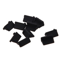 10 pcs Silicone USB port plug dustproof stopper protection cap black