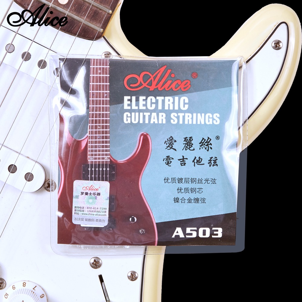 Electric Guitar Strings Plated Steel Coated Nickel Alloy Wound 009 010 Alice A503 amola 3sets lot et200 009 042 electric guitar strings nickel alloy wound musical instruments accessories super light