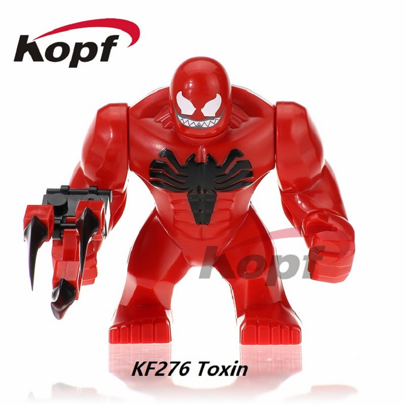 Super Heroes 7CM Venom Carnage The Son of Toxin Killer Croc Colossus Abomination Hulk Building Blocks Children Gift Toys KF276 the venom of luxur