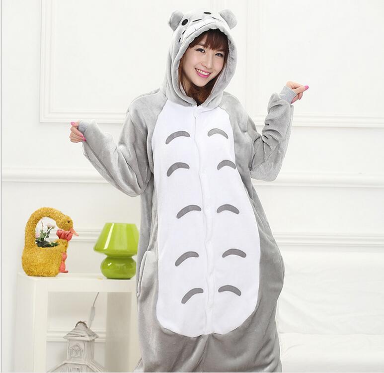 Totoro Pyjamas women Onesies for adults Flannel Animal pajamas Totoro sleepwear femmei/mujer pijamas enteros de animales