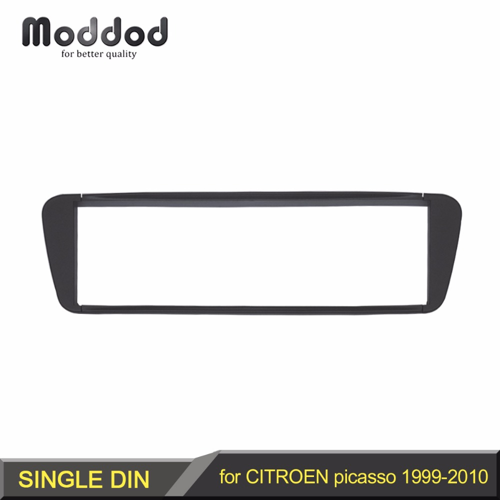 One Din Car Radio Fascia Panel for CITROEN Xsara Picasso 1999-2010 Headunit Dash Facia Frame Surround Trim Installasjonssett