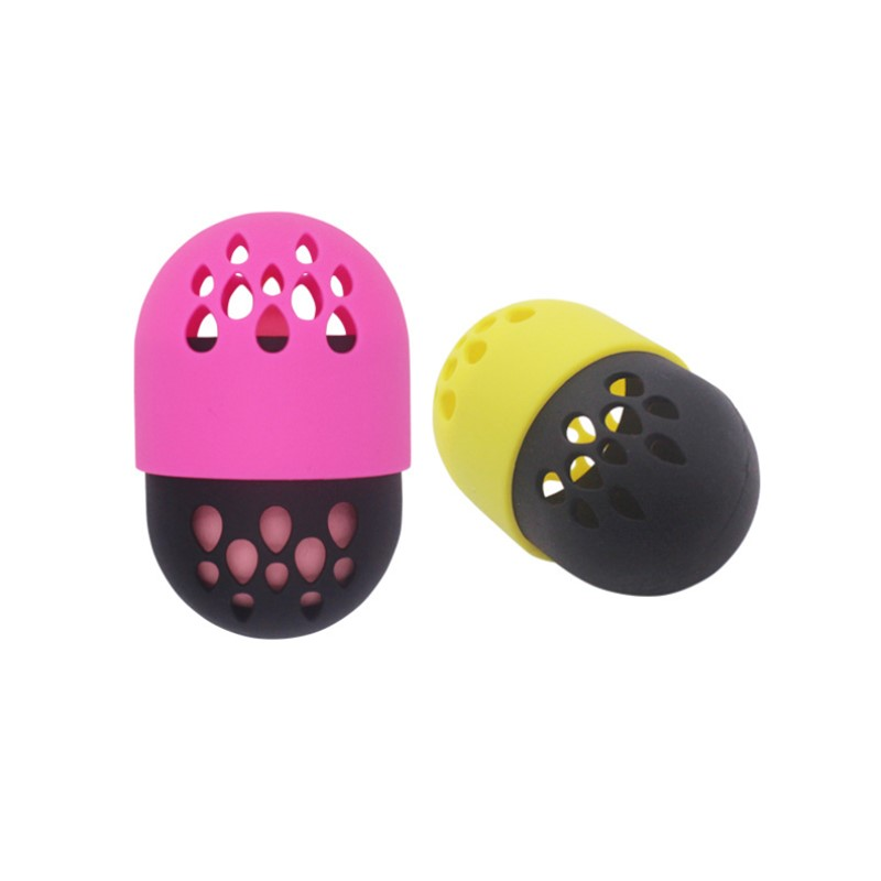 Soft Silicone Powder Puff Drying Holder Egg Stand Beauty Pad Makeup Sponge Display Rack Cosmetic Blender Sponge Case Puff Holder in Cosmetic Puff from Beauty Health