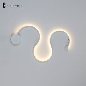 Image 3 - Luminaire Modern LED Wall Light For Living room Bedroom Dining room Black&White Wall Sconce Led Home Wall Lamp Ceiling Fixtures