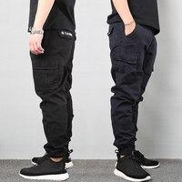Japanese Vintage Fashion Men Jeans Loose Fit Big Pockets Casual Cargo Pants Harem Trousers Streetwear Hip Hop Joggers Pants Men 1