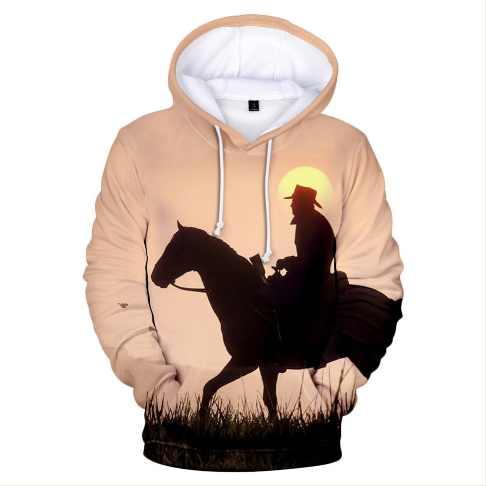 Game Red Dead Redemption 2 Hoodie Adult Men 3D Printed Hoodies Long Sleeved Casual Loose Oversized Hoodies Sweatshirts
