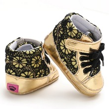 Baby Shoes Spring PU Suede Lace Casual Baby Boy Shoes Fashion Cotton F