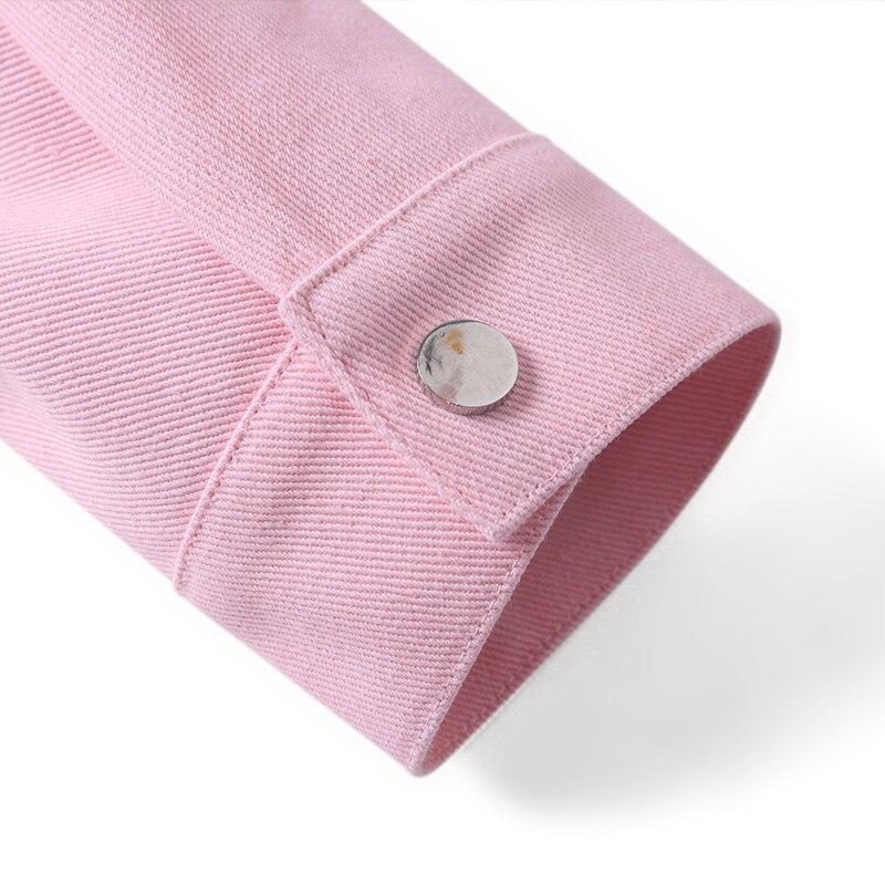 98% algodón Hombre cortavientos 2018 nuevo primavera streetwear casual streetwear un solo pecho turn down collar hombres chaquetas y abrigos - 4