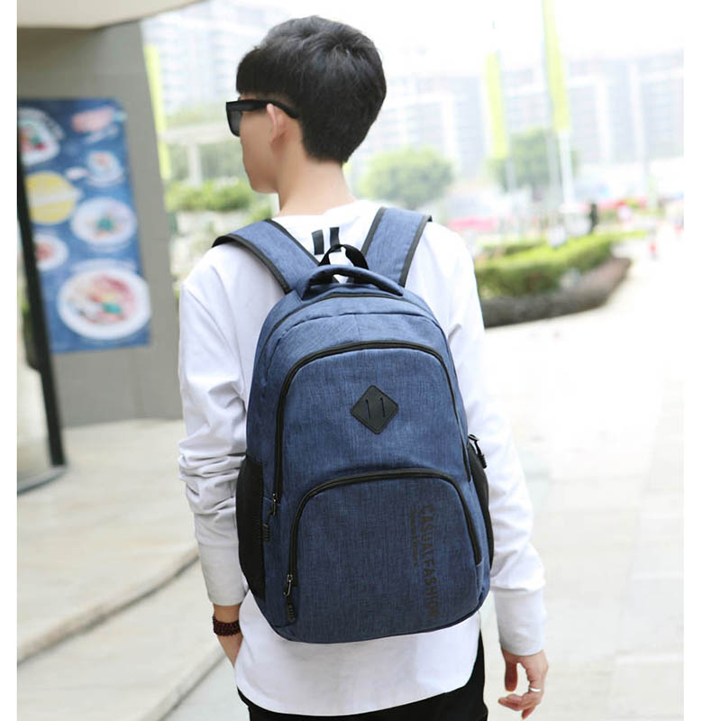 2019 New Fashion Men's Backpack Bag Male Canvas Laptop Backpack Computer Bag High School Student College Student Bag Male #2