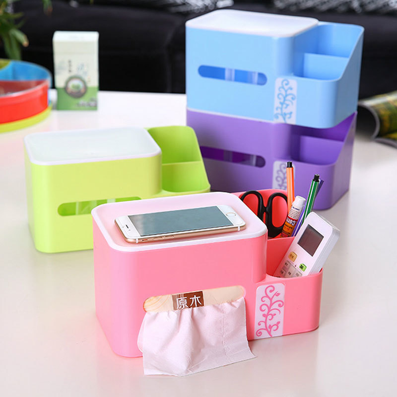 New Rectangle Home Organizer Storage Box Kitchen Creative Household Items 4 Colours Multi Function Organizer