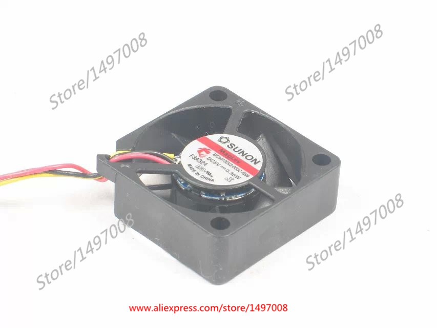 SUNON  MC30100V2-000C-G99  DC 5V 0.38W  30x30x10mm Server Square fan free shipping for sunon kde2406phs2 dc 24v 1 9w 2 wire 2 pin connector 60x60x15mm server square cooling fan