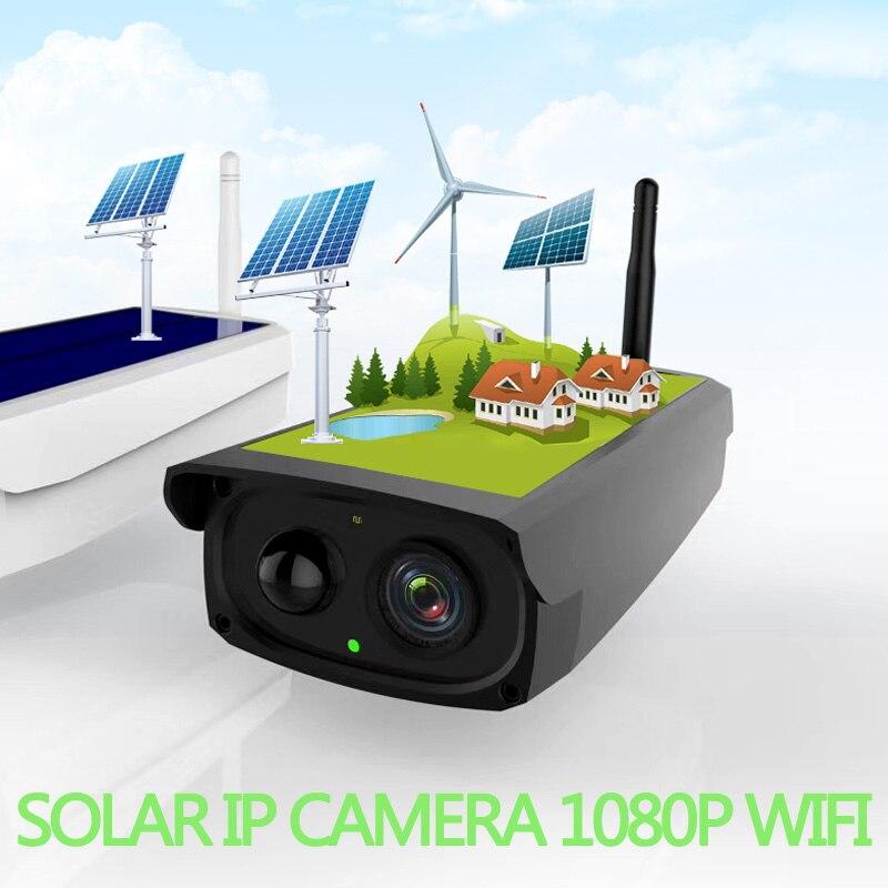 Mégapixels Solaire Batterie cctv caméra Wifi 1080 p IR bullet PIR Capteur Speark MIC Batterie réseau Cam vidéo surveillance de sécurité