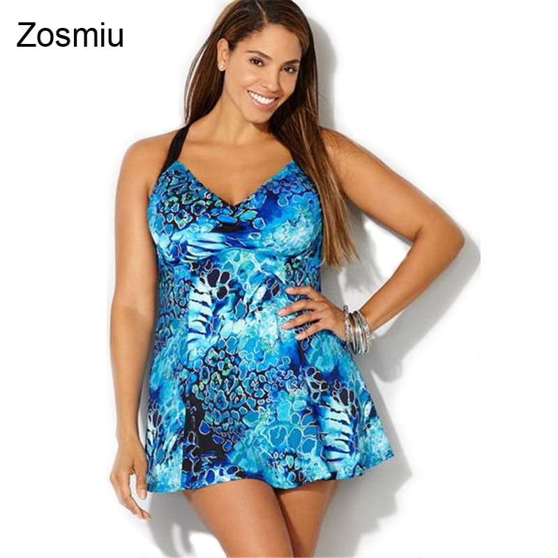 цены Zosmiu High Quality Sexy Backless One Piece Swimsuit Women Strap Swimwear Big Size Monokini Beachwear Flower Print Bathing Suit