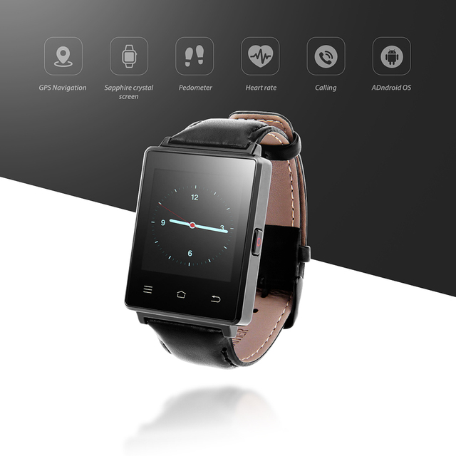 NO.1 D6 Android 5.1 Smart Watch Phone 1.63 inch MTK6580 Quad Core 3G GPS Smartwatch 1G 8G Heart Rate Monitor for Android IOS