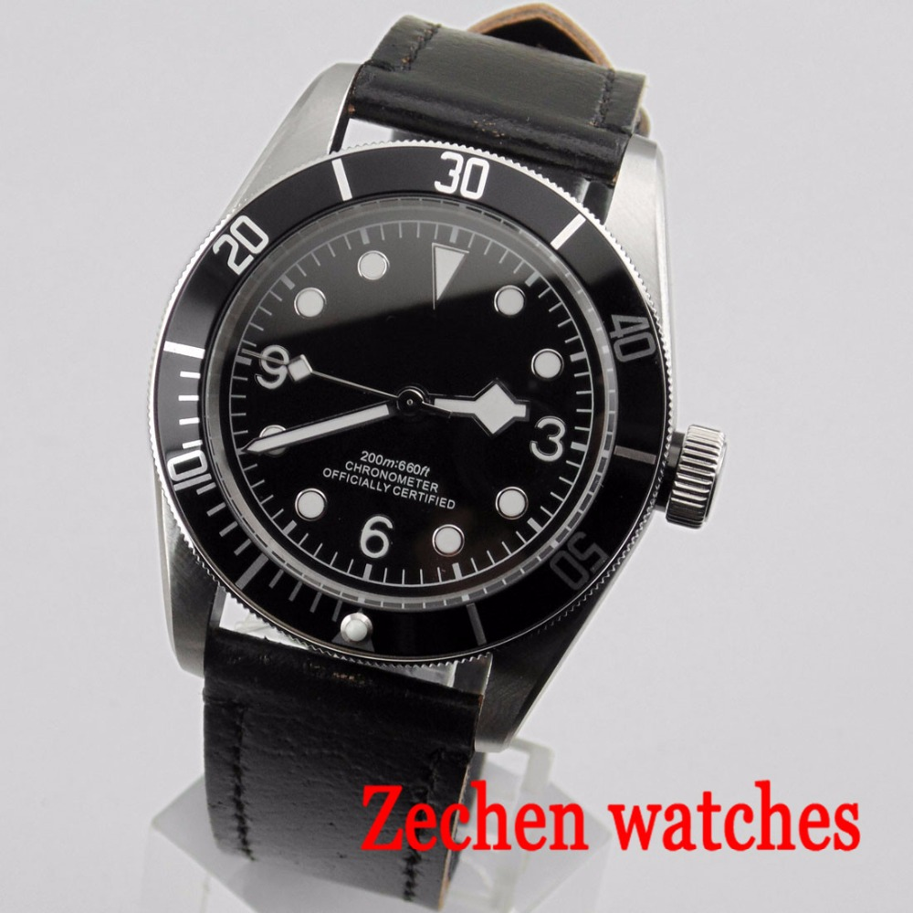 лучшая цена 41mm Corgeut automatic mechanical watch Miyota automatic movement mechanical watch waterproof sports casual men's watch