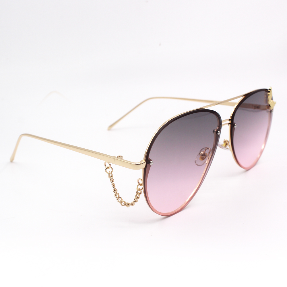 Star Chain Women Gradient Sunglasses Fashion Butterfly Glasses Oversized sun eyewear UV400 Lady Unique Decoration sunglasses