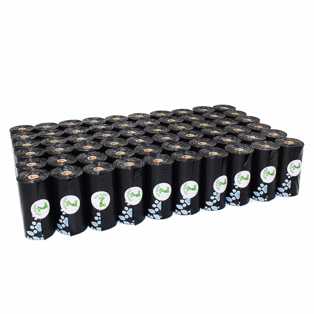 Sacos de Cocô de Cachorro Sacos de Lixo Saco de Lixo Earth friendly 1008 Contagens 12 Micron Grande Gato Preto Unscented 56 Rolos refil Sacos