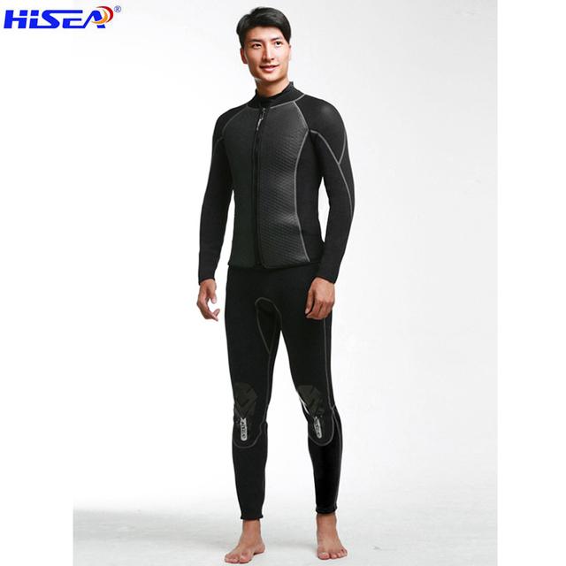 Hisea 2.5mm Neoprene Diving Jacket 2mm Pants Trousers Wetsuit Wind surfing Shark skin Fishing Snorkeling Elastic Warm Pants