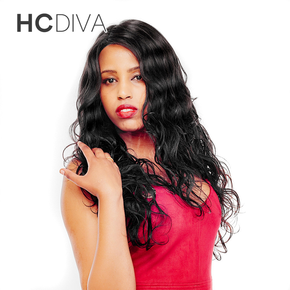 HCDIVA Peruvian Non-remy Hair Body Wave Human Hair Weave Bundles Natural Black Can Be Dyed And Bleached 1bundle Free Shipping