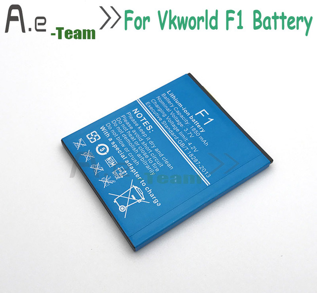 High Quality 100% NEW 1850mAh Battery F1 For Vkworld F1 Backup Battery Replacement For Vkworld F1 Mobile Phone Bateria in stock
