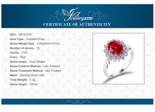 JewelryPalace Princess Diana William Kate Middleton's 3.2ct Created Red Ruby Engagement 925 Sterling Silver Ring Wedding Ring