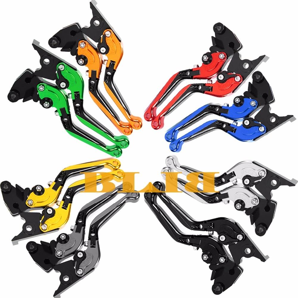 For Kawasaki ZZR600 ZX6R ZX636R ZX6RR ZX9R ZX10R VERSYS 1000 Z1000 ZX12R Motorcycle Foldable Extending Brake Clutch 170mm Levers billet extendable folding brake clutch levers for kawasaki zx6 r rr zx9r zx10r zx12r ninja 00 05 zzr 600 versys 1000 12 14 z1000