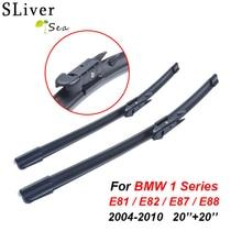 SLIVERYSEA Wipers For BMW 1 Series E81 E82 E87 E88 2004-2010 20''+20'' Rubber Bracketless Windscreen Blade Car Accessories