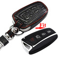 4 Buttons Smart Remote Keyless Insert Key Fob Case Transmitter Prox W For Hyundai Santa Fe SantaFe Leather With Buckle