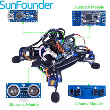 SunFounder Rollflash Bionic Robot Turtle with APP Control Toy Kit for Arduino Obstacle Avoidance Rbotics Kits(China)