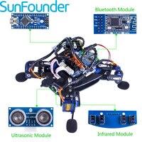 SunFounder rollflash Bionic робот черепаха с приложением Управление игрушка комплект для Arduino препятствием rbotics Наборы