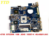 Original for ACER 4750 laptop motherboard 4750  GT520M  1GB  JE40  10267-4  48.4IQ01.041  tested good free shipping