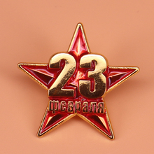 Винтажная Советская Красная Звезда булавка СССР коммунистический символ Красная Армия значок Военная Униформа брошь для мужчин ювелирные изделия