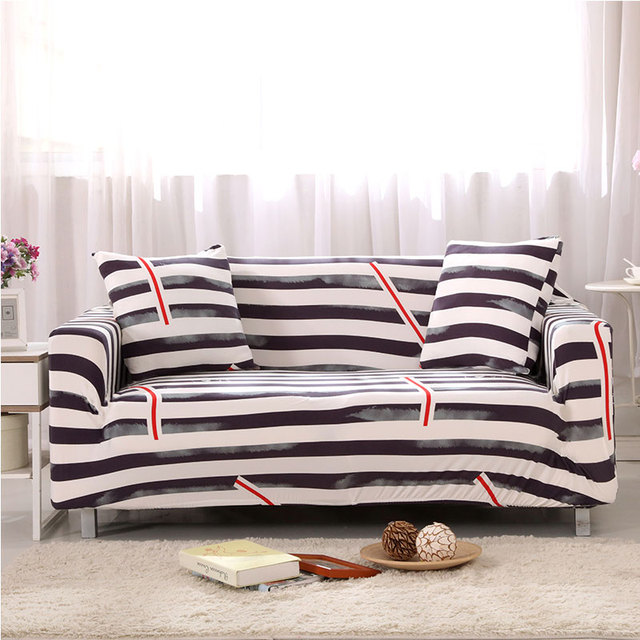 1pcs Flower Leaf Striped Soft Stretch Sofa Cover Home Decor Spandex Furniture Covers Decoration Covering Hotel
