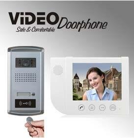 ZHUDELENew Arrival 8.3video door phone smart home security intercom system w/T 700TVL HD Camera,night vision ID card unlock 1V1