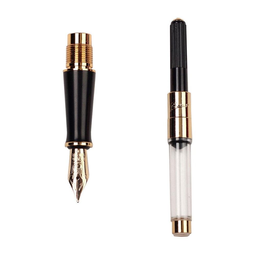 Pluma estilográfica negra M 14 K plumín de oro sólido Picasso 89 firma ejecutiva grande papelería envío gratis - 4