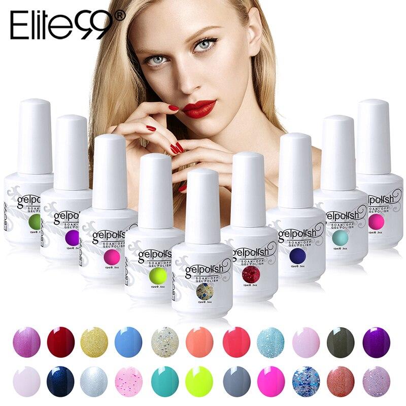 Elite99 15 ml לספוג את ג 'ל לק UV לאורך זמן לכות מסמר אמנות Gelpolish לבחור 10 חתיכות 539 מדהים צבעים