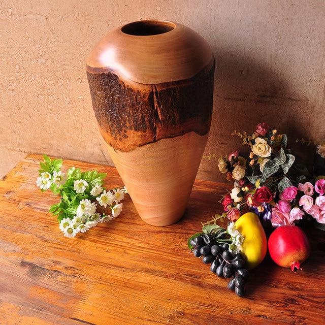 Thai Mango Wood Vases Ornaments Home Accessories Living Room