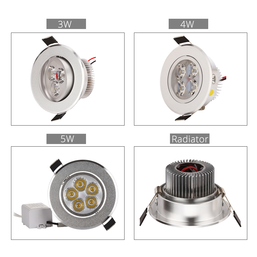 50 st / lot Ny 2015 3W 4W 5W Dimmbar led downlight AC 120V 220V - Inomhusbelysning - Foto 2