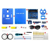 Waveshare KitiBot 2WD robot building kit for micro:bit,with controller BBC micro:bit