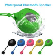 цены на Q50 Waterproof Small Speaker with Suction Cup Bathroom Small Audio Device Car Mini Outdoor Portable Wireless Bluetooth Speaker  в интернет-магазинах