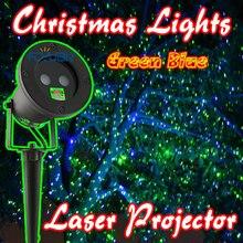 Зеленый Синий Лазерная Рождественские Огни Открытый Праздник Проектор Статический Эффект Водонепроницаемый IP65 Сад Газон Лазерного Света