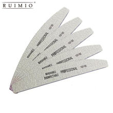 5Pcs Nail Art Sanding Buffer 100/180 Grit Nail Files UV Gel Polisher Manicure Pedicure Sandpaper Manicure Nail Tools(China)