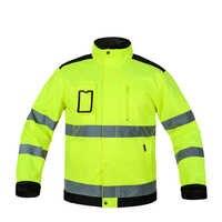 Macacão reflexivo jaqueta de alta visibilidade masculino ao ar livre trabalho topos amarelo fluorescente multi-bolsos segurança workwear vestuário