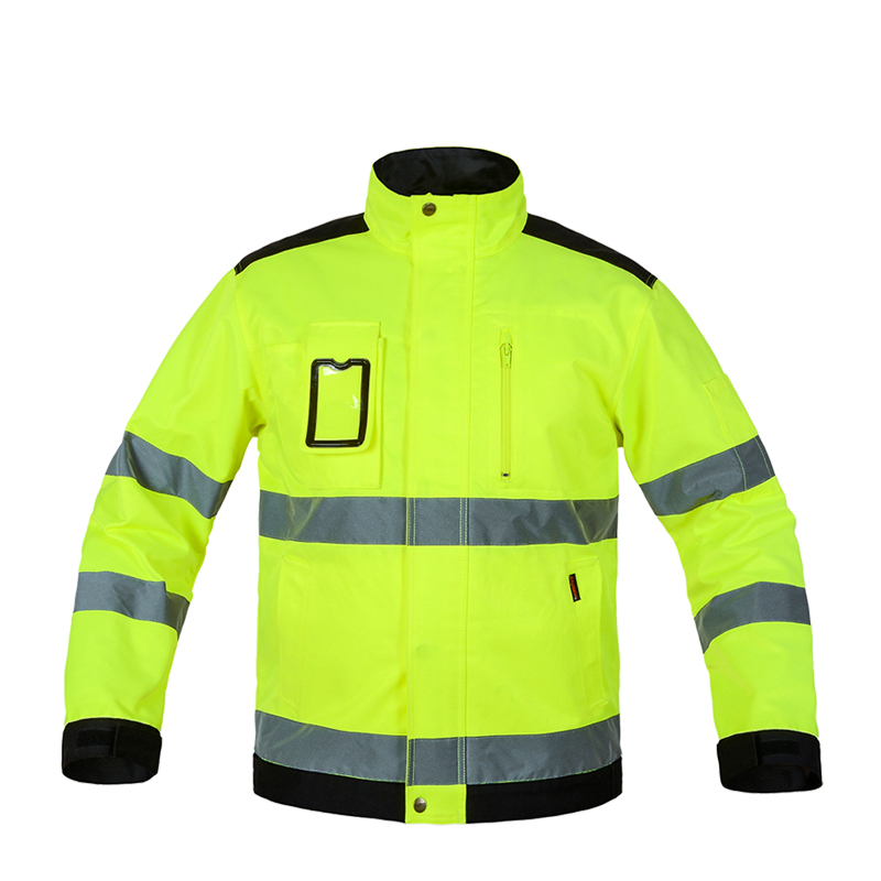 Overalls Reflective Jacket High visibility Men Outdoor Working Tops Fluorescent Yellow Multi-pockets Safety Workwear ClothingOveralls Reflective Jacket High visibility Men Outdoor Working Tops Fluorescent Yellow Multi-pockets Safety Workwear Clothing