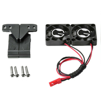 Screws Radiator Cooling Kids Air Intake RC Car Durable Replacement With Brackets Toys Parts Twin Fan Set for Traxxas 4