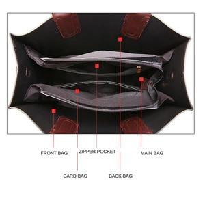 Image 4 - Знаменитые брендовые дизайнерские сумки, кожаные сумки, женские вместительные винтажные сумки с ручками, однотонные сумки тоут, женская сумка через плечо