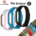 Original mijobs banda 2 cinta para xiaomi miband mi 2 pulseira de silicone pulseira banda inteligente substituir acessórios para xaomi miband2