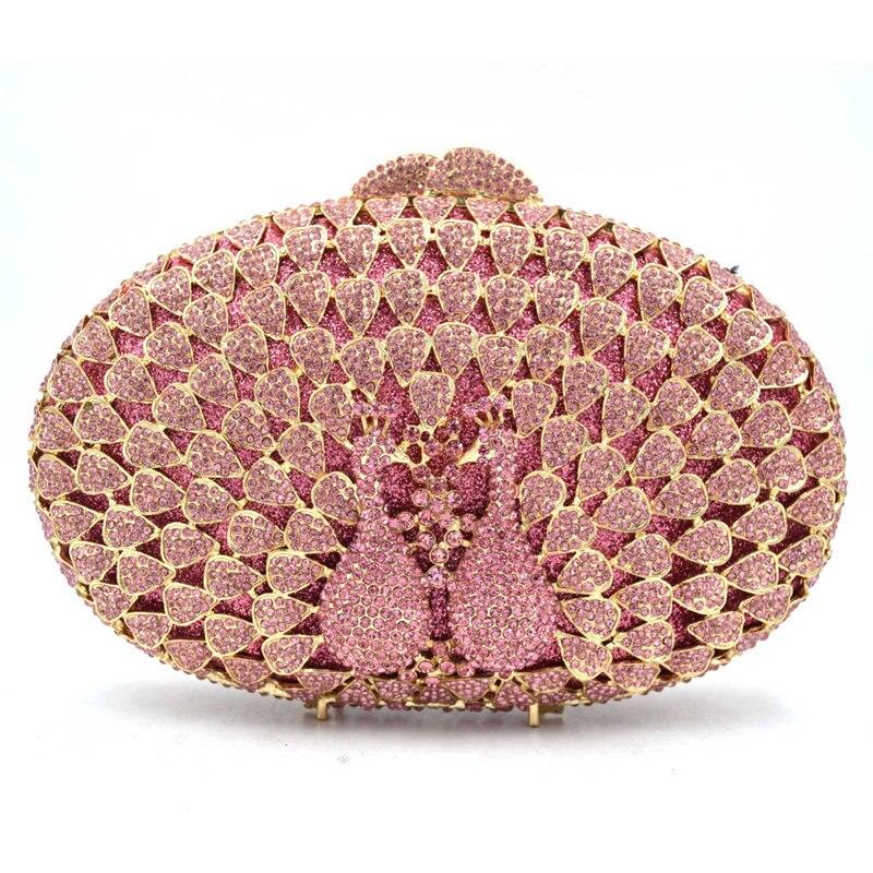 pink Soirée Main Sac Pour silver Picture Dame Métal blue Or Cristal Bandoulière Femmes As Femme gold À Xiyuan Mode Embrayages Marque Dîner Pochette Show Rose Sacs wpqn7zB
