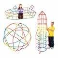 100/200/300 шт 4D DIY Пластиковые соломенные Строительные блоки Набор игрушек креативная сборка конструктор инженер Обучающие игрушки Детский под...