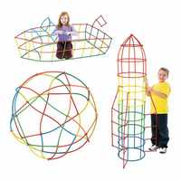 100/200/300 PCS 4D DIY Plastic Straw Building Blocks Toy Set Creative Assembly Constructor Engineer Educational Toys Kids Gift
