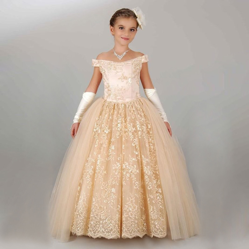 Fancy Little Girls Dress Ball Gown Kids Puffy Dresses Deguisement